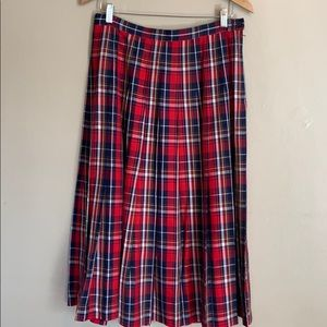 Pendleton | Plaid Pleated Christmas Skirt | 10